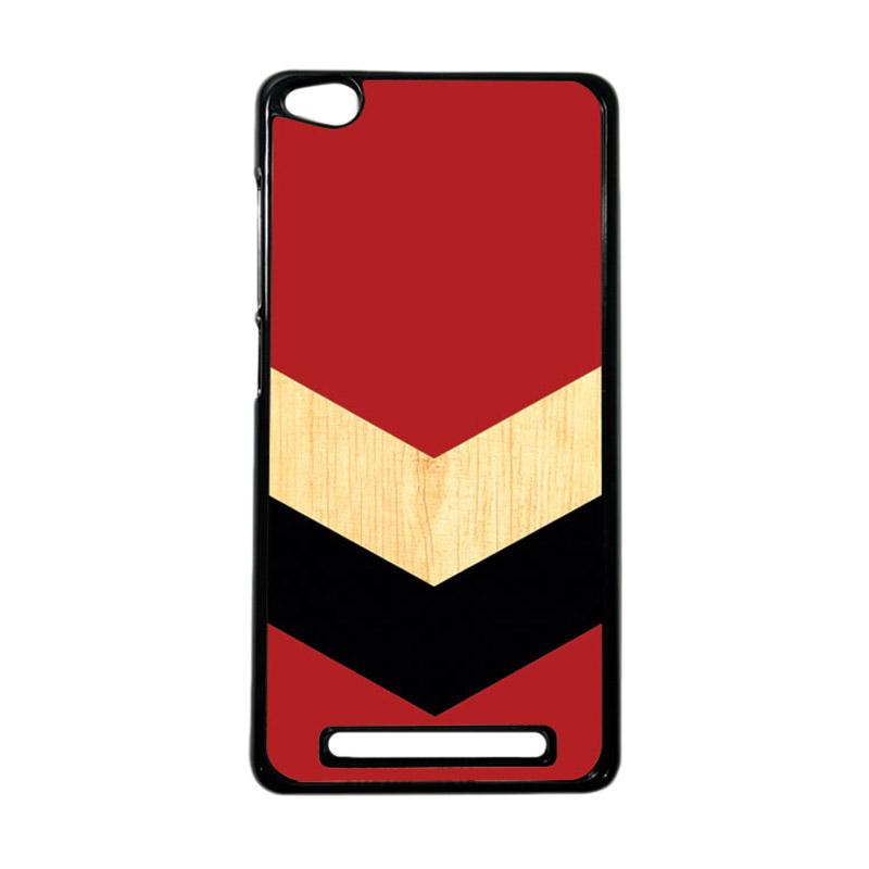 HEAVENCASE Motif Batik Kayu Chevron 35 Hardcase Casing for Xiaomi Redmi 3 - Hitam