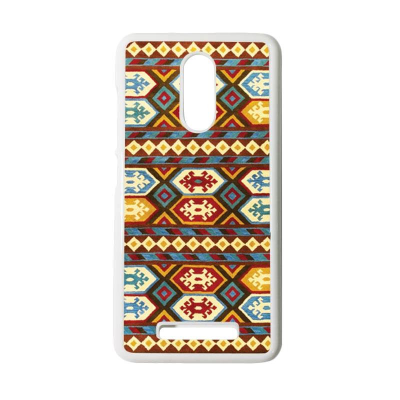 HEAVENCASE Motif Batik Kayu Tribal 01 Putih Hardcase Casing for Xiaomi Redmi Note 3