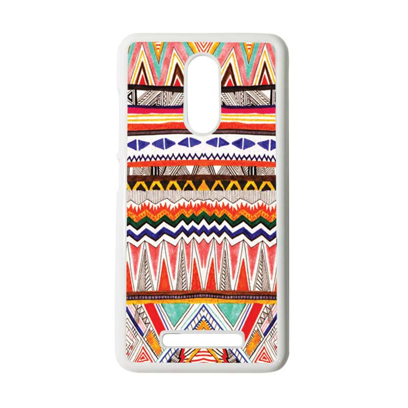 HEAVENCASE Motif Batik Kayu Tribal 02 Putih Hardcase Casing for Xiaomi Redmi Note 3