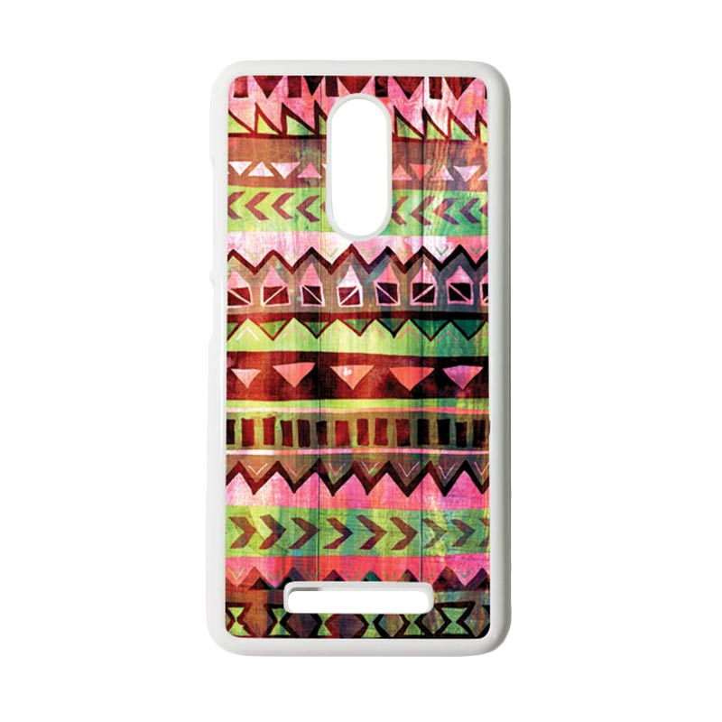 HEAVENCASE Motif Batik Kayu Tribal 05 Putih Hardcase Casing for Xiaomi Redmi Note 3