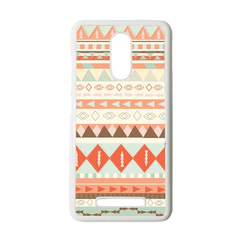 HEAVENCASE Motif Batik Kayu Tribal 10 Putih Hardcase Casing for Xiaomi Redmi Note 3