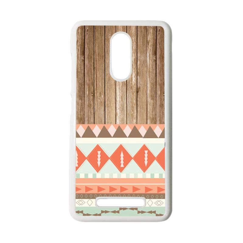 Heavencase Motif Batik Kayu Tribal 11 Putih Hardcase Casing for Xiaomi Redmi Note 3