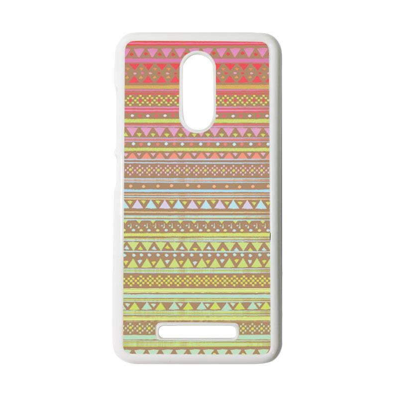 Heavencase Motif Batik Kayu Tribal 14 Putih Hardcase Casing for Xiaomi Redmi Note 3