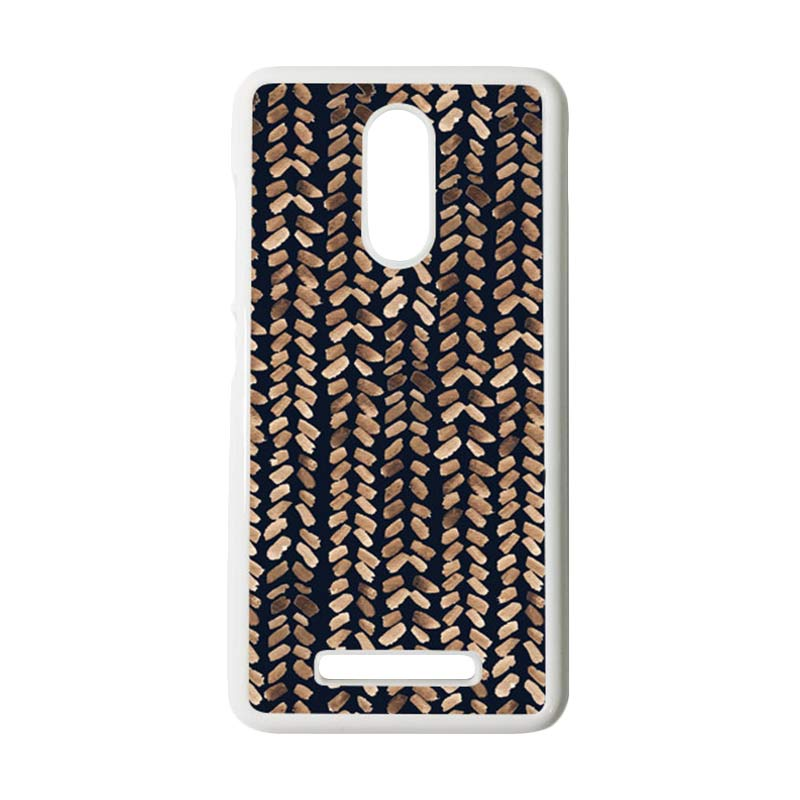 HEAVENCASE Motif Batik Kayu Tribal 17 Putih Hardcase Casing for Xiaomi Redmi Note 3