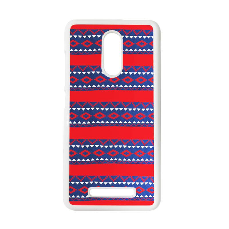 HEAVENCASE Motif Batik Kayu Tribal 19 Putih Hardcase Casing for Xiaomi Redmi Note 3