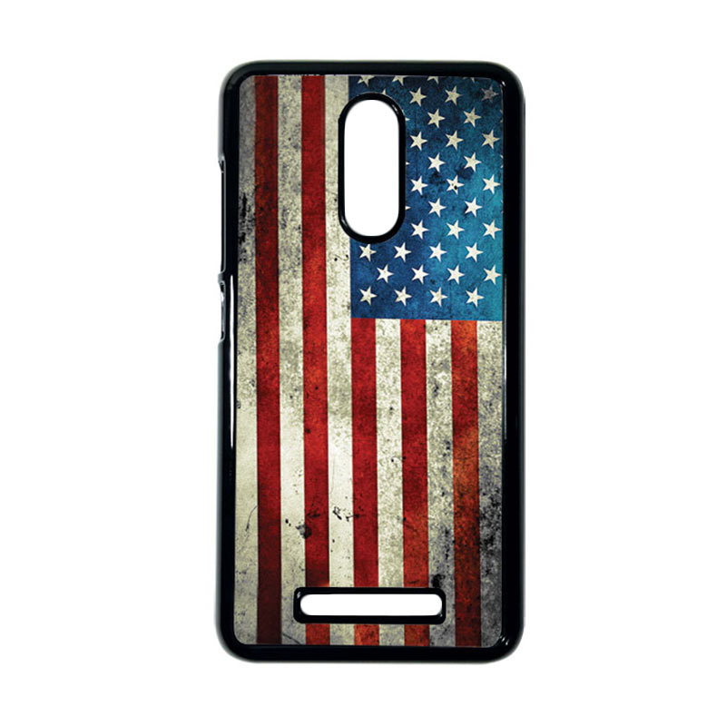 HEAVENCASE Motif Bendera America Casing for Xiaomi Redmi Note 3 - Hitam