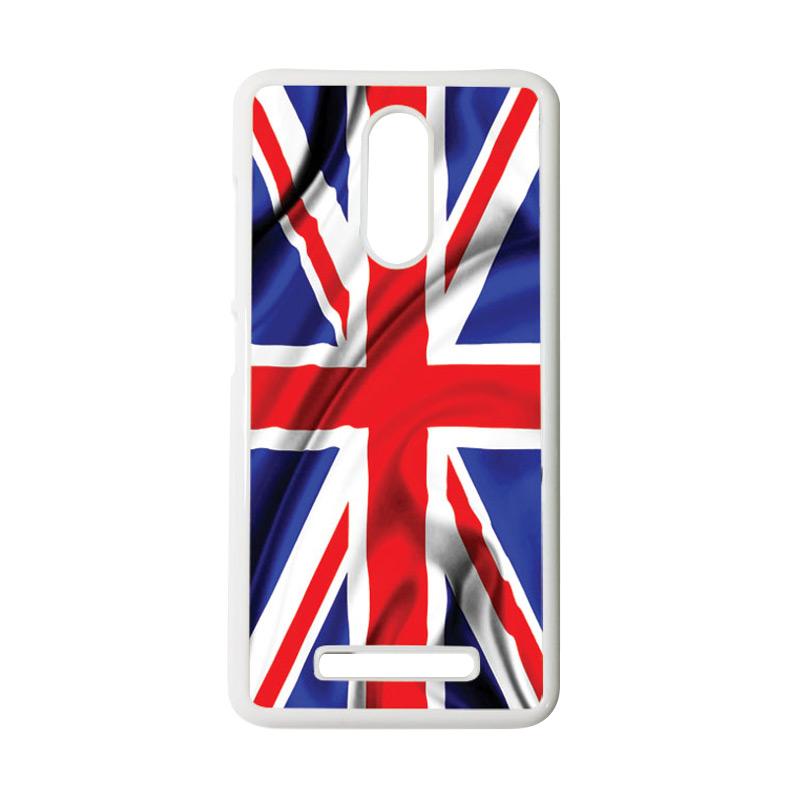 HEAVENCASE Motif Bendera Inggris 2 Casing for Xiaomi Redmi Note 3 - Putih