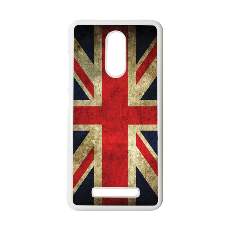 HEAVENCASE Motif Bendera Inggris Casing for Xiaomi Redmi Note 3 - Putih