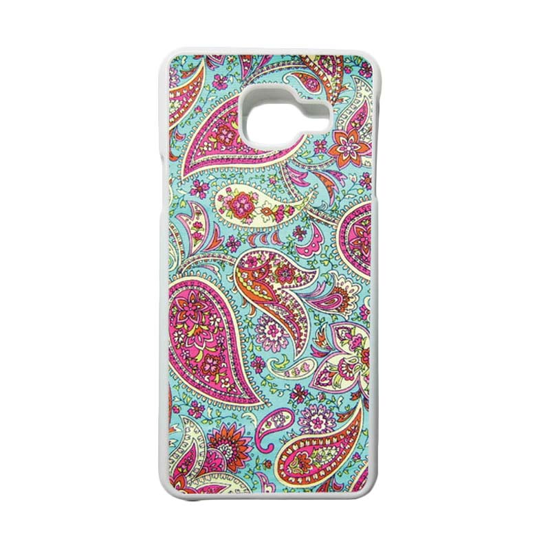 HEAVENCASE Motif Bunga Unik Paisley 02 Casing for Samsung Galaxy A3 2016 or A310 - Putih