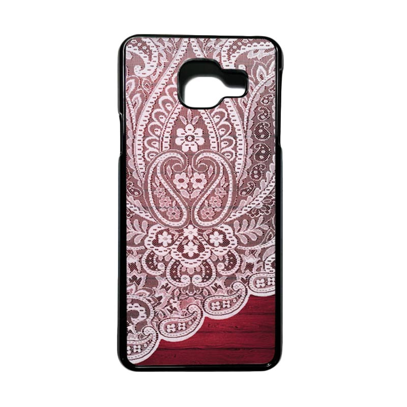 HEAVENCASE Motif Bunga Unik Paisley 06 Casing for Samsung Galaxy A3 2016 or A310 - Hitam