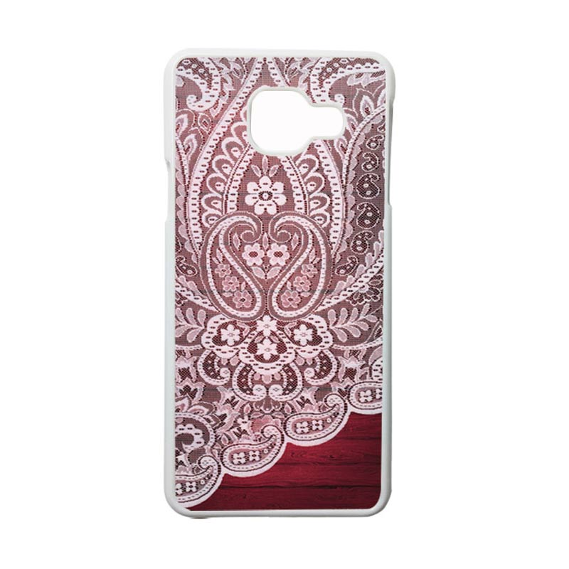HEAVENCASE Motif Bunga Unik Paisley 06 Casing for Samsung Galaxy A3 2016 or A310 - Putih