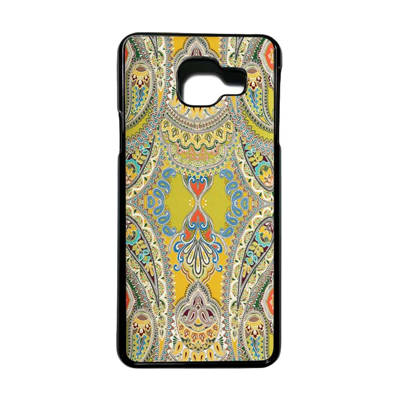 HEAVENCASE Motif Bunga Unik Paisley 07 Casing for Samsung Galaxy A3 2016 or A310 - Putih
