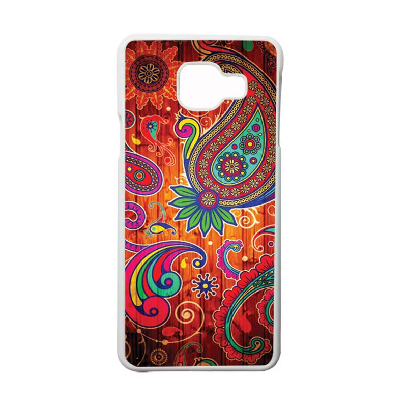 HEAVENCASE Motif Bunga Unik Paisley 09 Casing for Samsung Galaxy A3 2016 or A310 - Putih