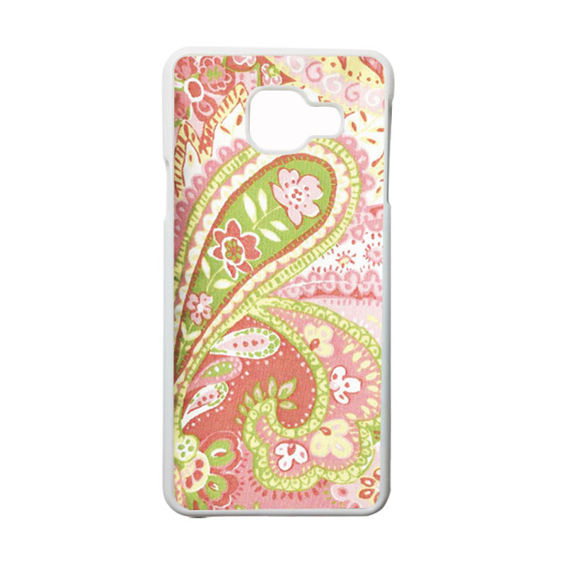 HEAVENCASE Motif Bunga Unik Paisley 16 Casing for Samsung Galaxy A3 2016 or A310 - Putih