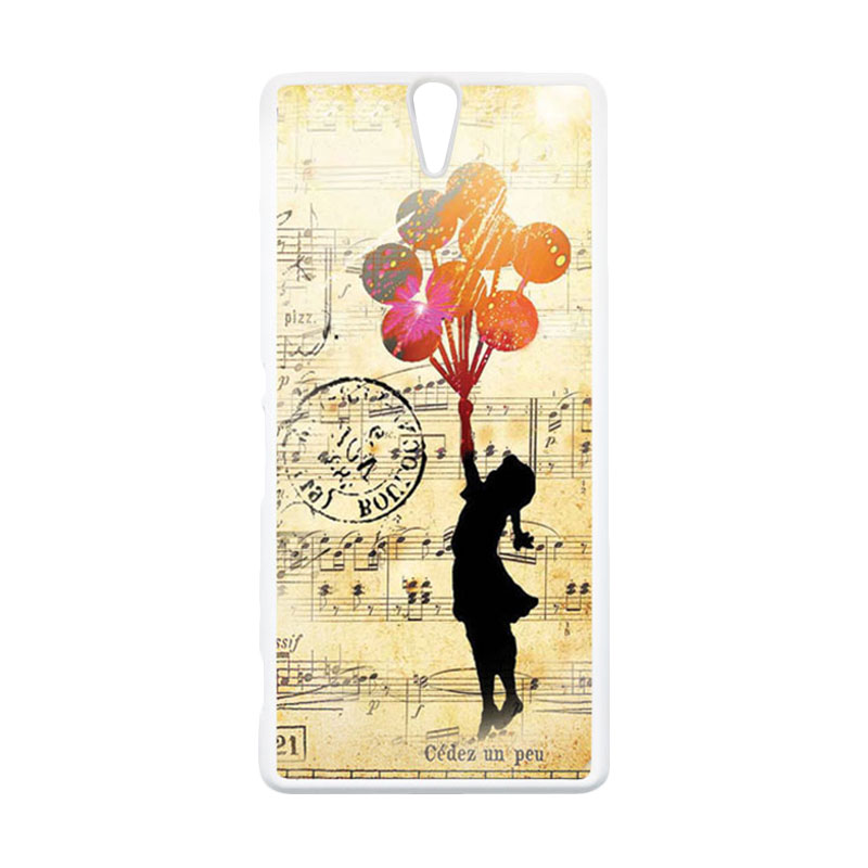 HEAVENCASE Motif Girl Woman 02 Hardcase Casing for Sony Xperia C5 Ultra - Putih