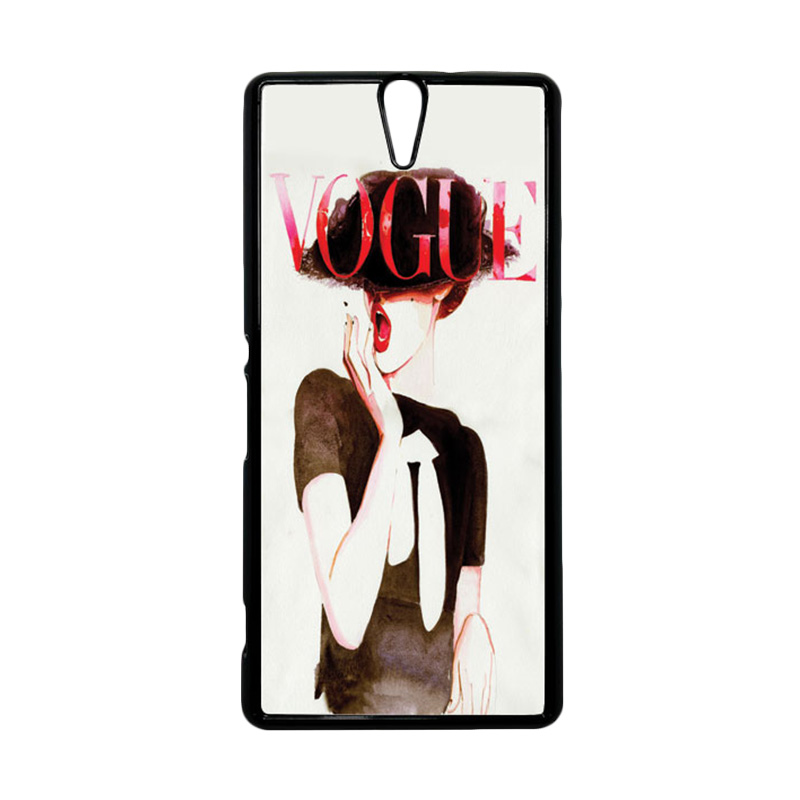 Heavencase Motif Girl Woman 04 Hitam Hardcase Casing for Sony Xperia C5 Ultra