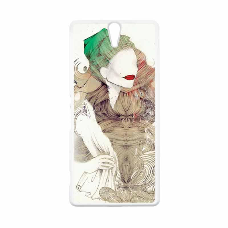 HEAVENCASE Motif Girl Woman 08 Putih Hardcase Casing for Sony Xperia C5 Ultra