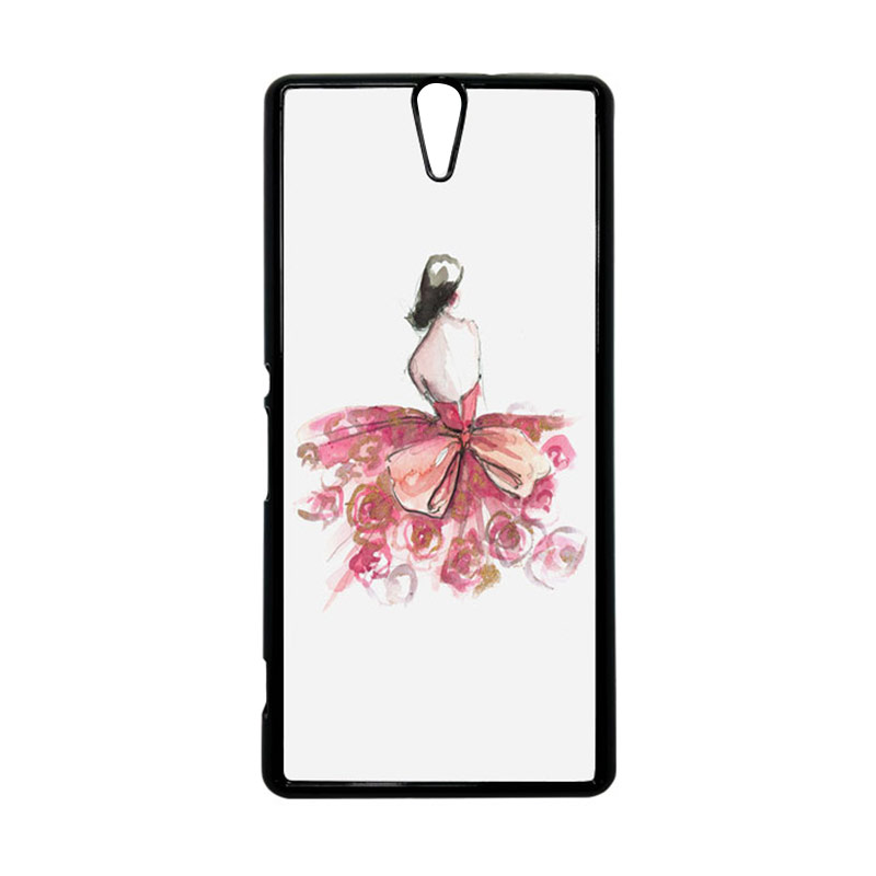 HEAVENCASE Motif Girl Woman 13 Hitam Hardcase Casing for Sony Xperia C5 Ultra