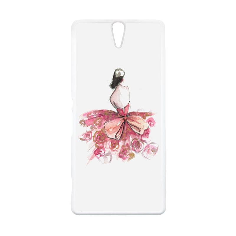 HEAVENCASE Motif Girl Woman 13 Putih Hardcase Casing for Sony Xperia C5 Ultra