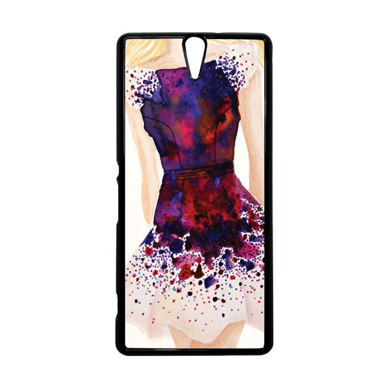 Heavencase Motif Girl Woman 15 Hitam Hardcase Casing for Sony Xperia C5 Ultra