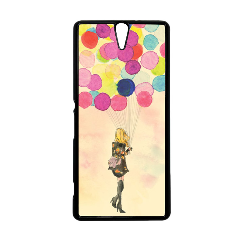 HEAVENCASE Motif Girl Woman 17 Hitam Hardcase Casing for Sony Xperia C5 Ultra