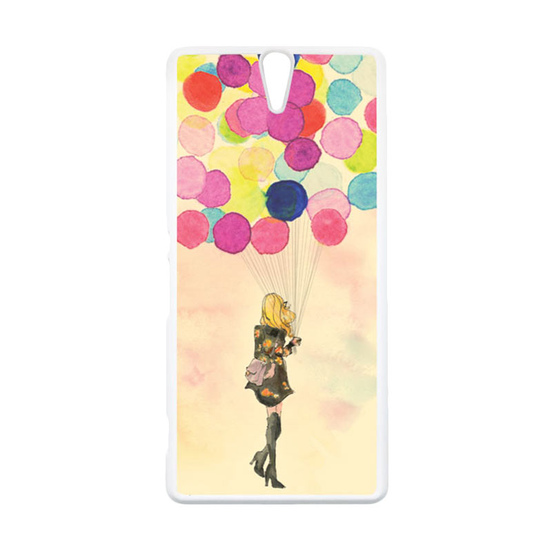 HEAVENCASE Motif Girl Woman 17 Putih Hardcase Casing for Sony Xperia C5 Ultra