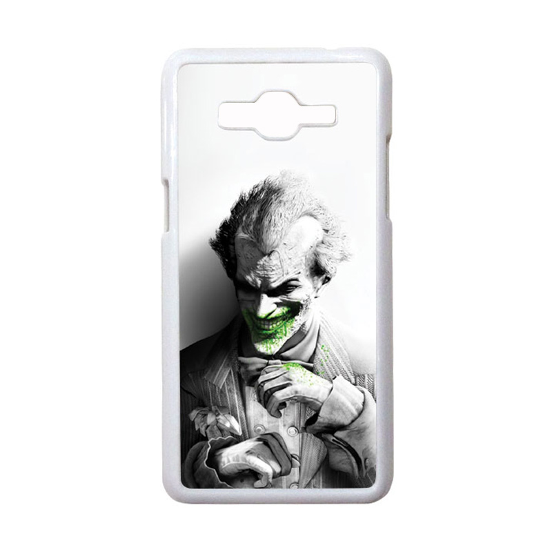 HEAVENCASE Motif Joker 01 Hardcase Casing for Samsung Galaxy Grand Prime - Putih