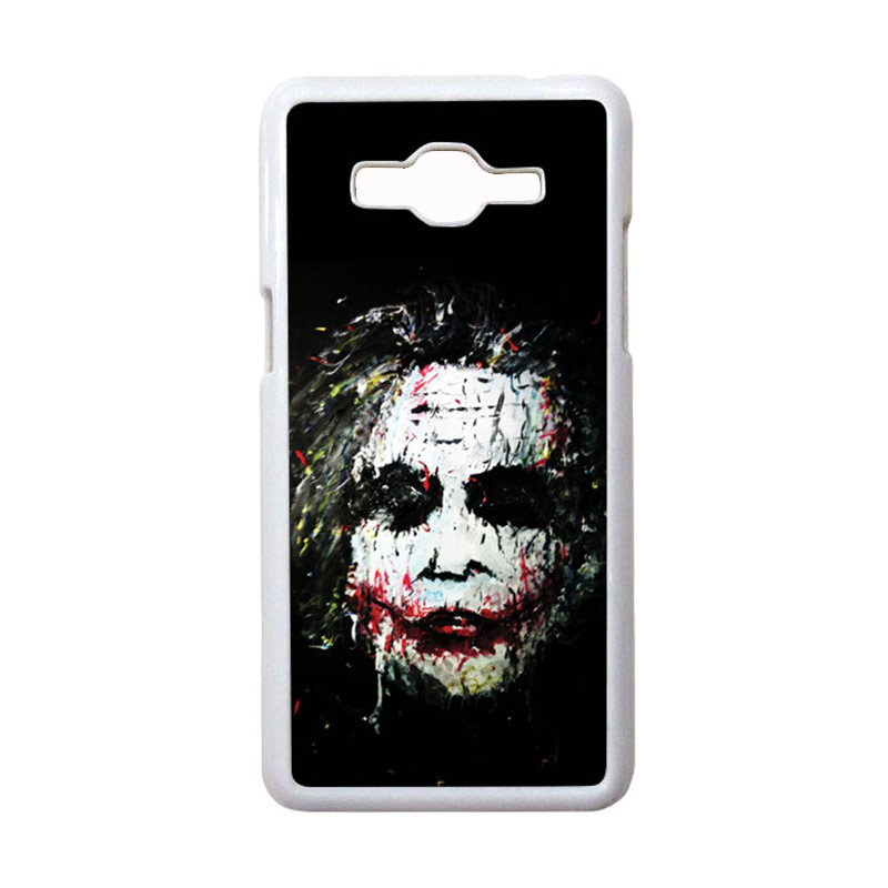 HEAVENCASE Motif Joker 02 Hardcase Casing for Samsung Galaxy Grand Prime - Putih