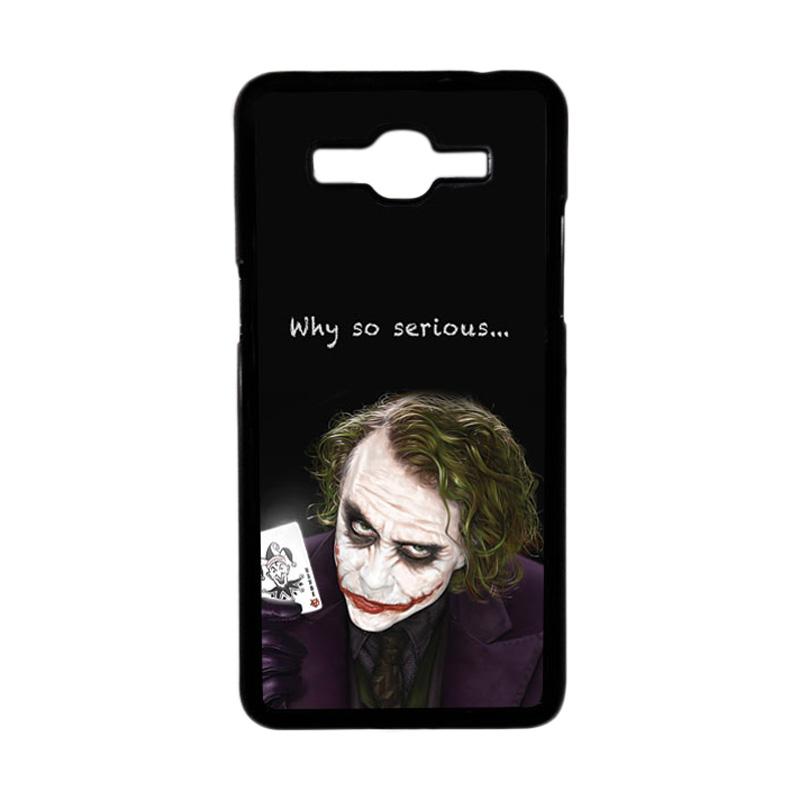 HEAVENCASE Motif Joker 03 Hardcase Casing for Samsung Galaxy Grand Prime - Hitam