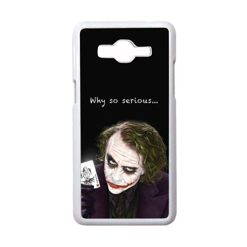 HEAVENCASE Motif Joker 03 Hardcase Casing for Samsung Galaxy Grand Prime - Putih