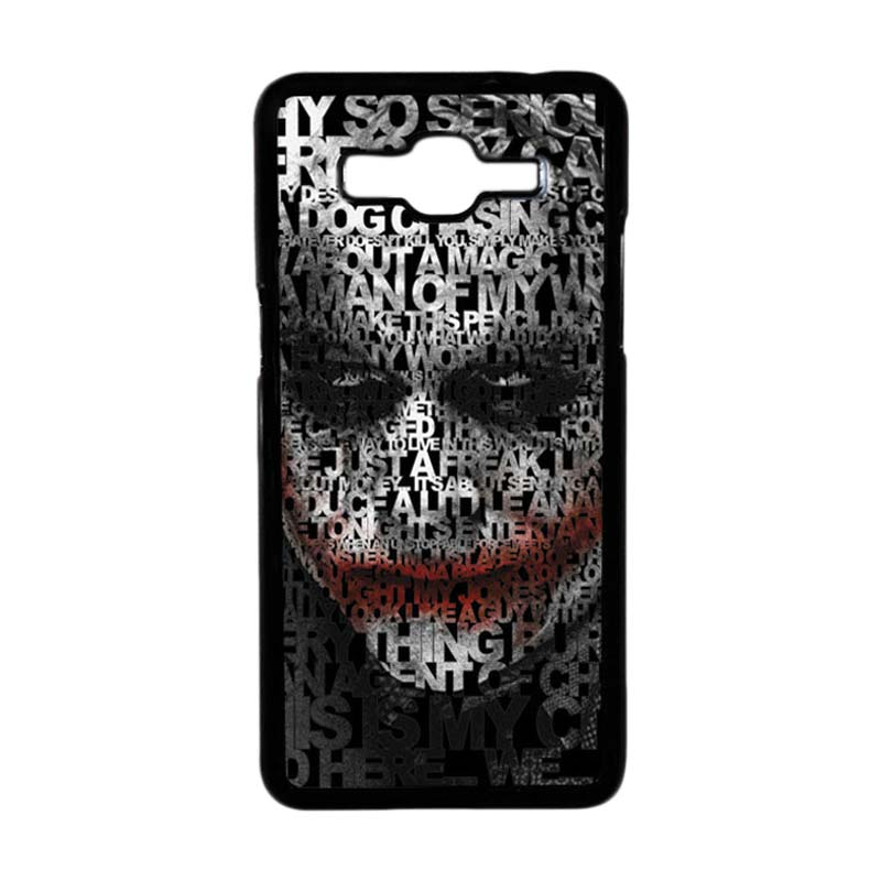 HEAVENCASE Motif Joker 04 Hardcase Casing for Samsung Galaxy Grand Prime - Hitam