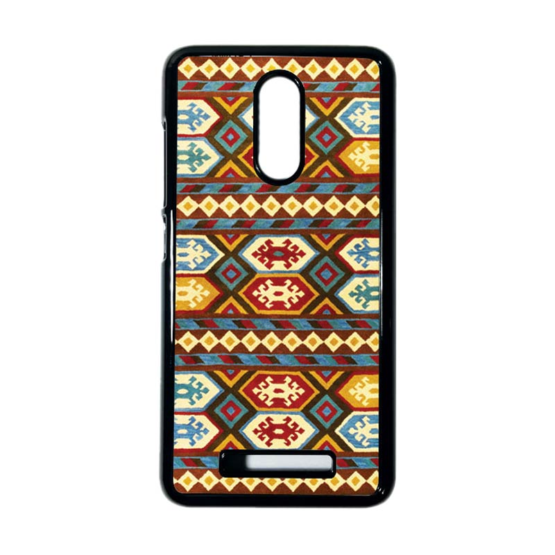 HEAVENCASE Motif Kayu Tribal 01 Hitam Hardcase Casing for Xiaomi Redmi Note 3