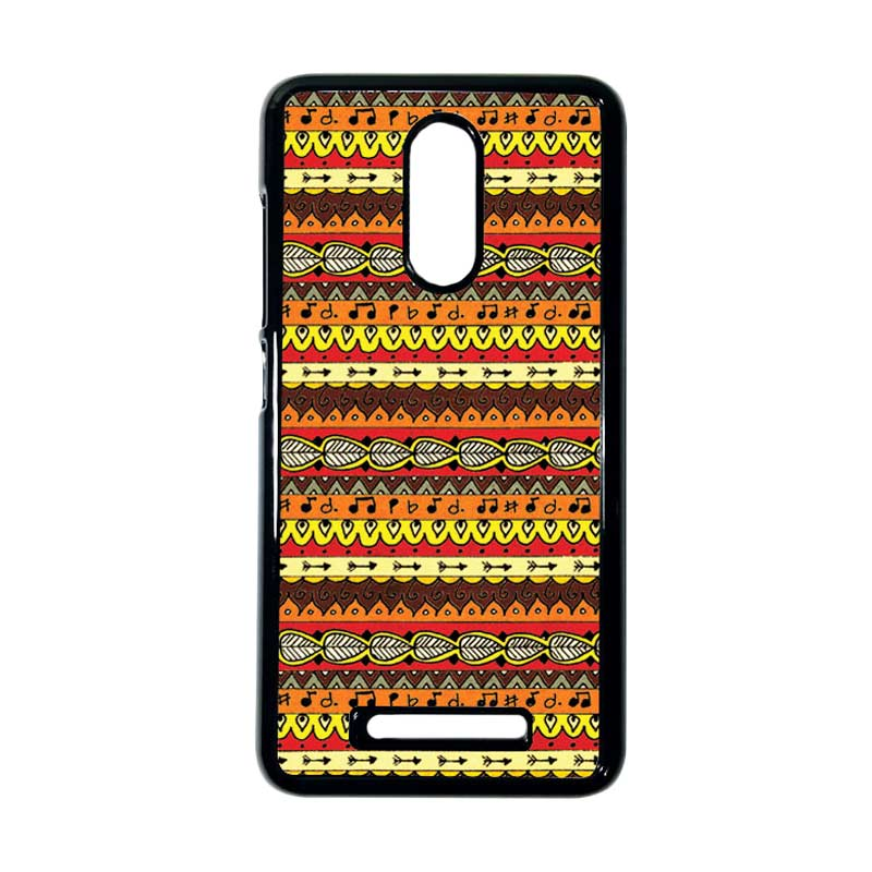 HEAVENCASE Motif Kayu Tribal 06 Hitam Hardcase Casing for Xiaomi Redmi Note 3