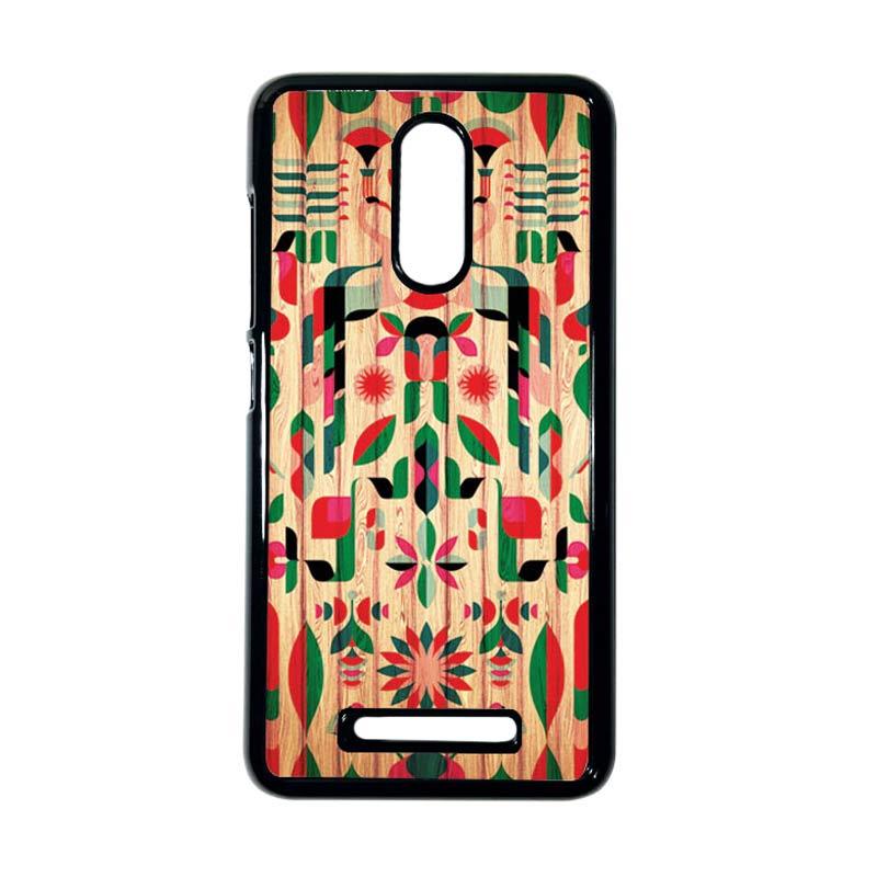 HEAVENCASE Motif Kayu Tribal 08 Hitam Hardcase Casing for Xiaomi Redmi Note 3
