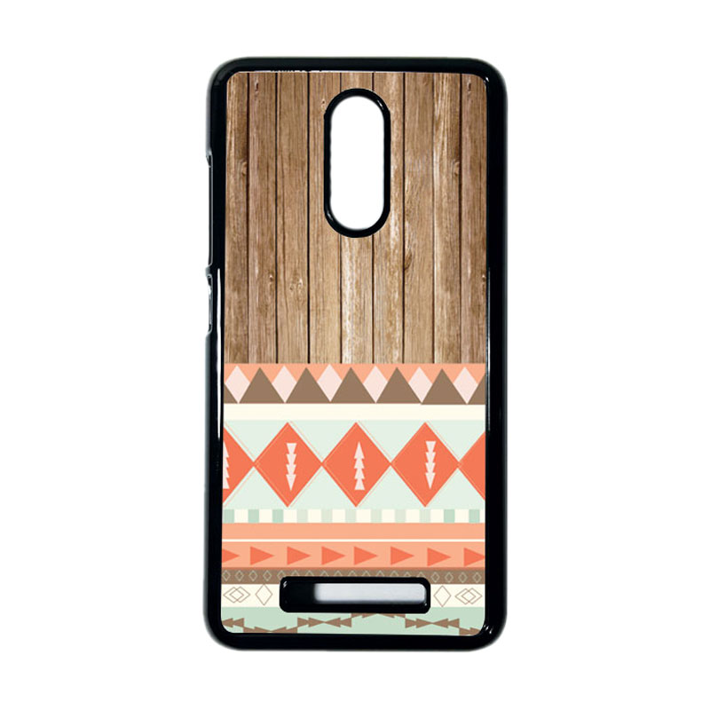 HEAVENCASE Motif Kayu Tribal 11 Hitam Hardcase Casing for Xiaomi Redmi Note 3