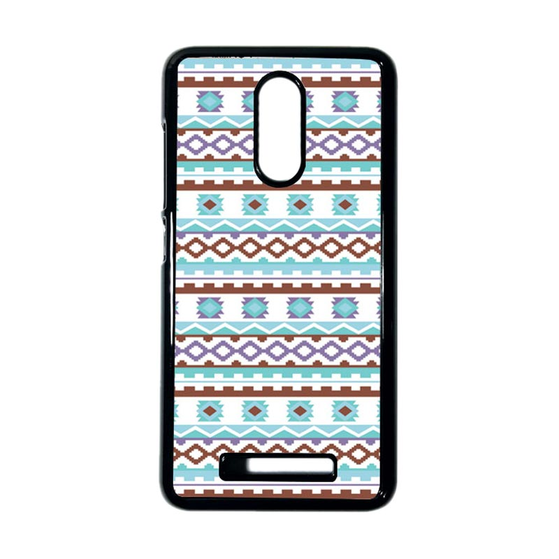 HEAVENCASE Motif Kayu Tribal 12  Hitam Hardcase Casing for Xiaomi Redmi Note 3