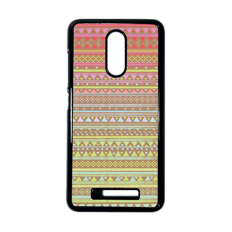 HEAVENCASE Motif Kayu Tribal 14 Hitam Hardcase Casing for Xiaomi Redmi Note 3