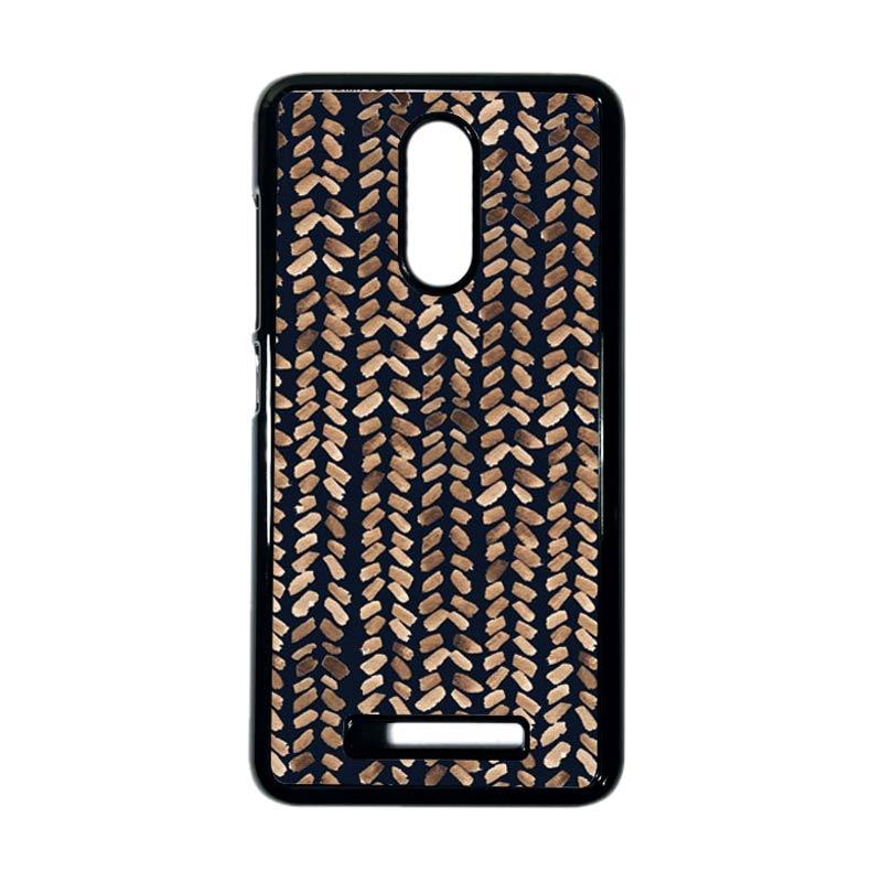 HEAVENCASE Motif Kayu Tribal 17 Hitam Hardcase Casing for Xiaomi Redmi Note 3