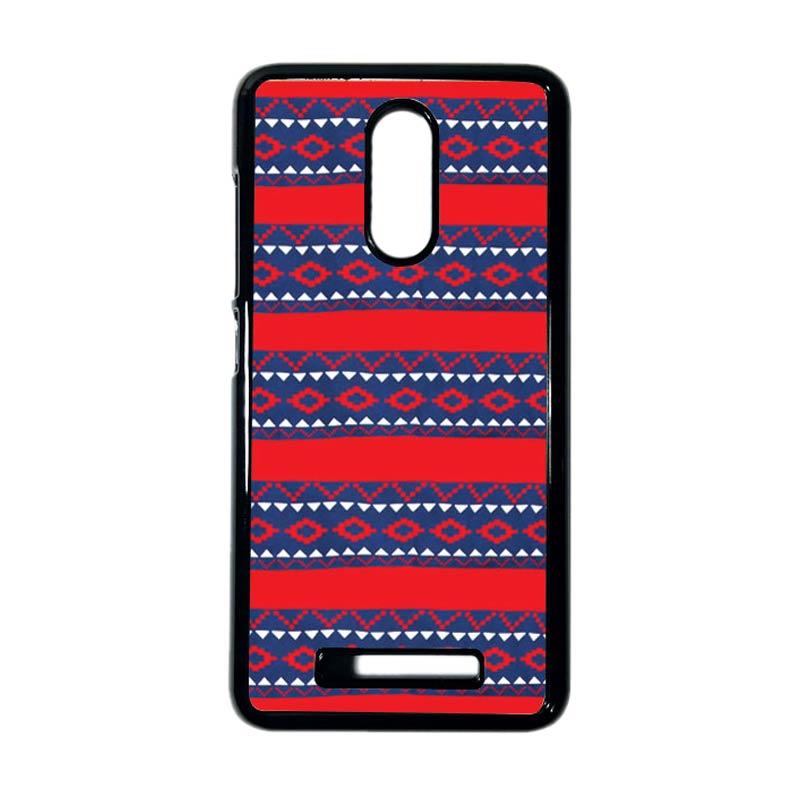 HEAVENCASE Motif Kayu Tribal 19 Hitam Hardcase Casing for Xiaomi Redmi Note 3