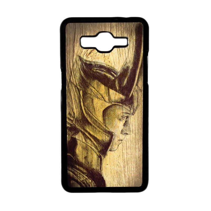 HEAVENCASE Motif Loki 02 Hardcase Casing for Samsung Galaxy Grand Prime - Hitam
