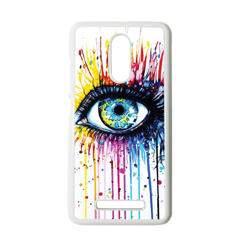 HEAVENCASE Motif Melting Eyes Casing for Xiaomi Redmi Note 3 - Putih