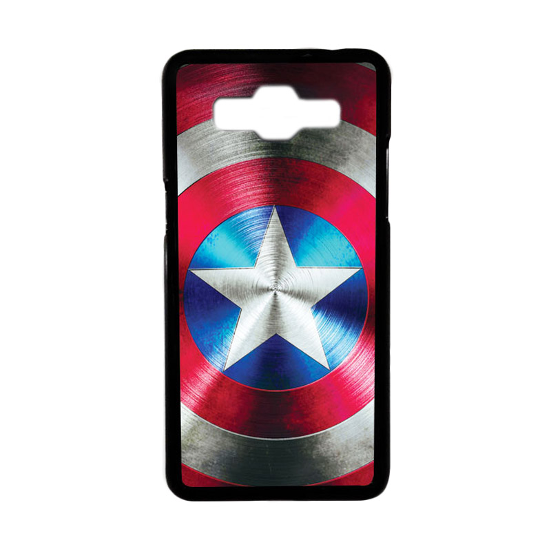 Heavencase Motif Superhero America 03 Hardcase Casing for Samsung Galaxy Grand Prime - Hitam
