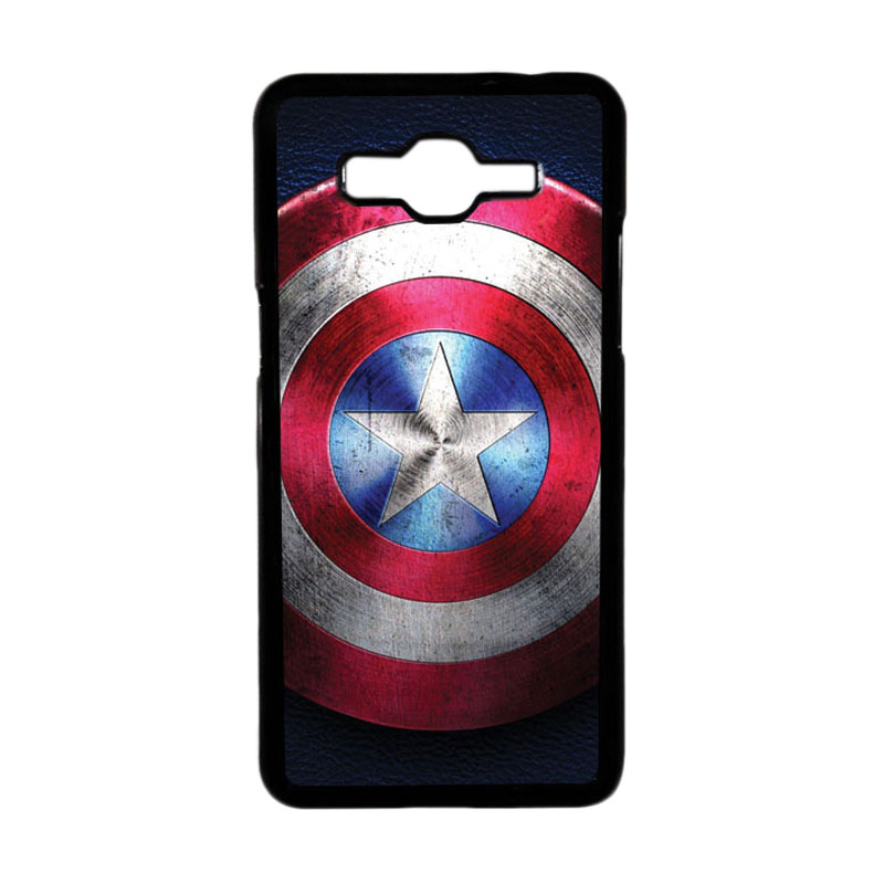 Heavencase Motif Superhero America 04 Hardcase Casing for Samsung Galaxy Grand Prime - Hitam