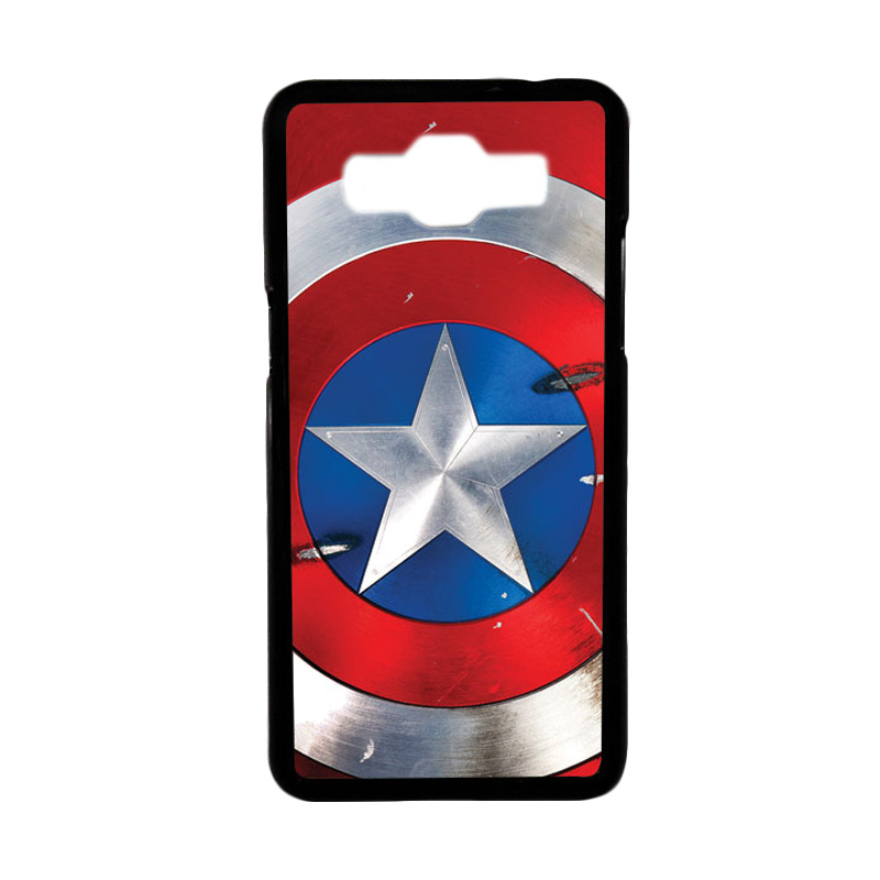 Heavencase Motif Superhero America 05 Hardcase Casing for Samsung Galaxy Grand Prime - Hitam