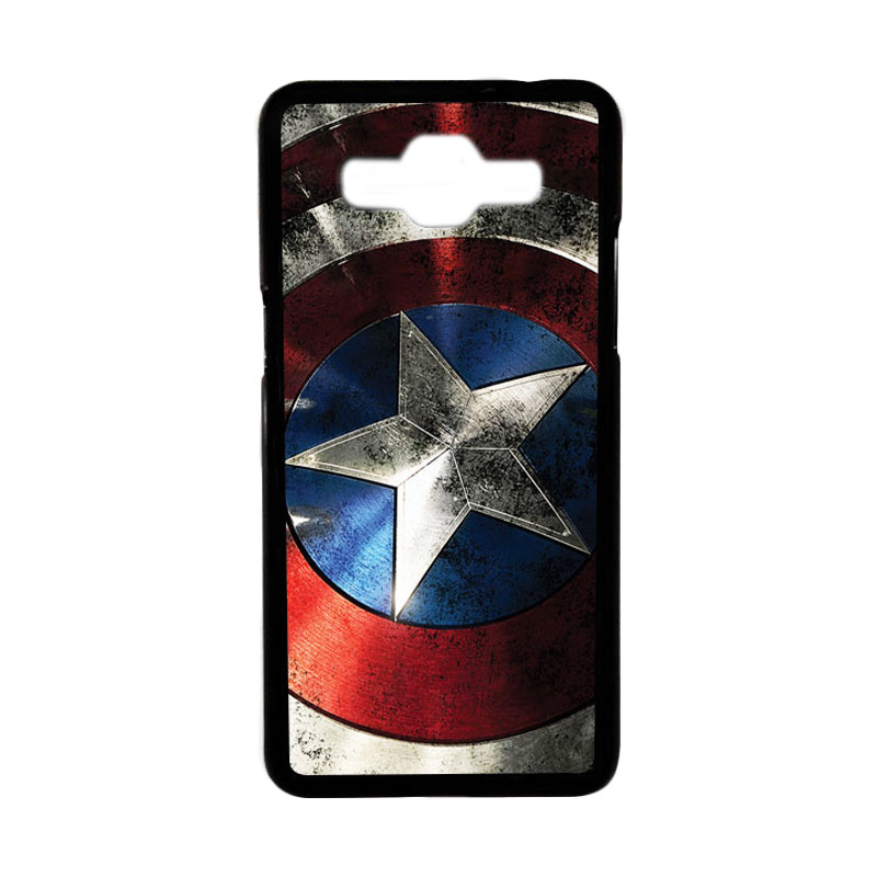 Heavencase Motif Superhero America 06 Hardcase Casing for Samsung Galaxy Grand Prime - Hitam