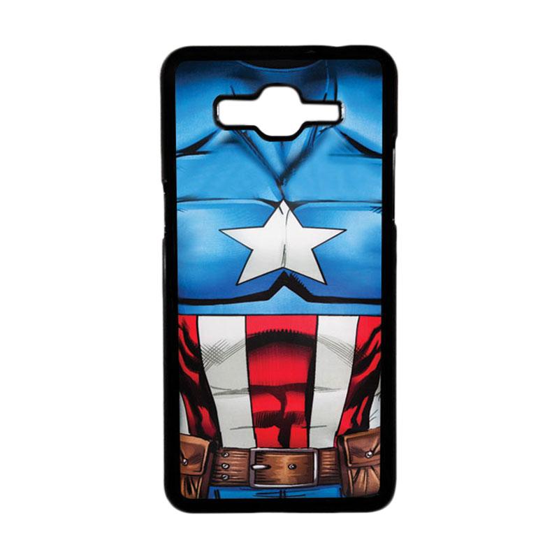 Heavencase Motif Superhero America 08 Hardcase Casing for Samsung Galaxy Grand Prime - Hitam