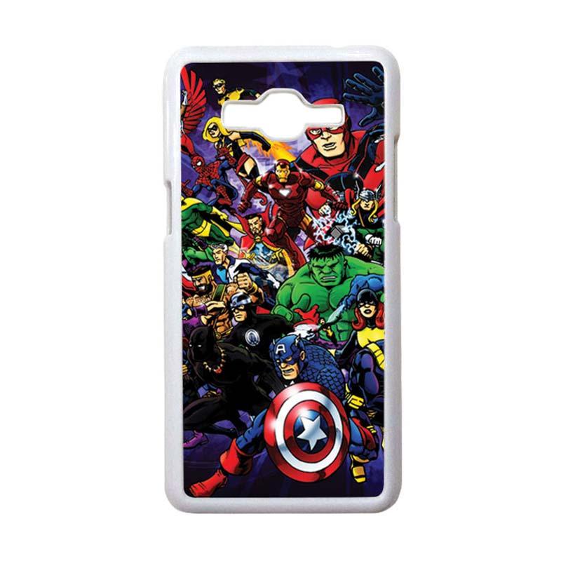 HEAVENCASE Motif Superhero Avengers 03 Hardcase Casing for Samsung Galaxy Grand Prime - Putih