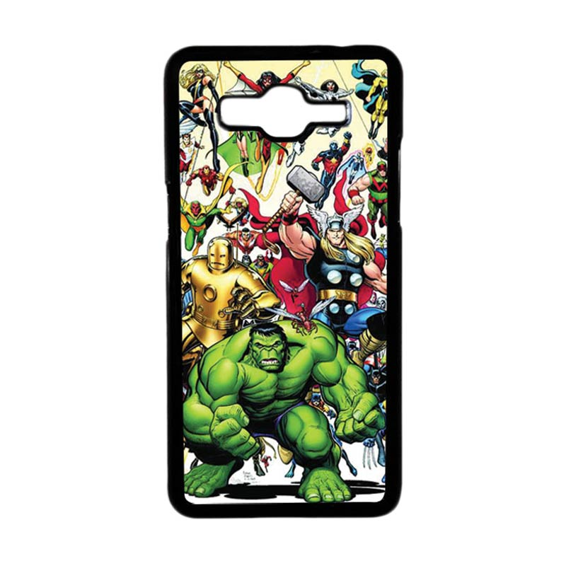 HEAVENCASE Motif Superhero Avengers 04 Casing for Samsung Galaxy Grand Prime - Hitam