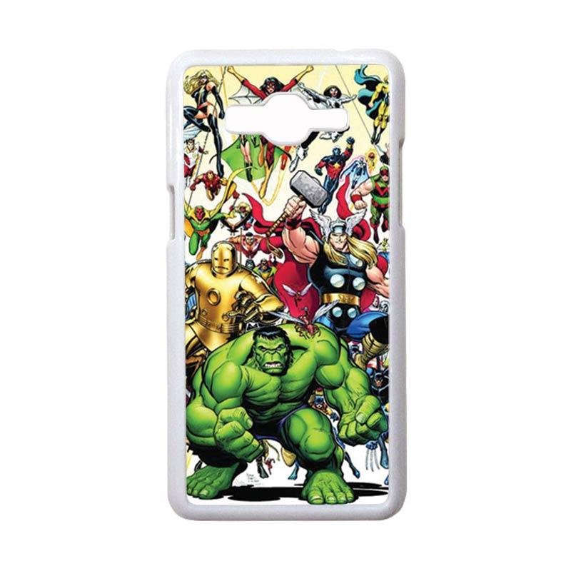 HEAVENCASE Motif Superhero Avengers 04 Hardcase Casing for Samsung Galaxy Grand Prime - Putih