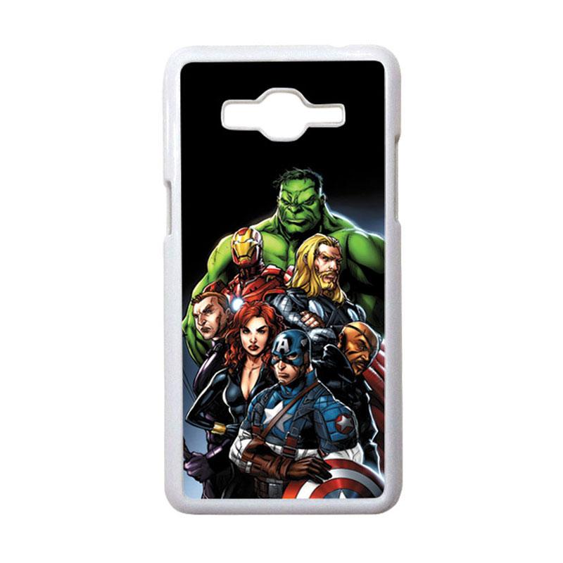 HEAVENCASE Motif Superhero Avengers 05 Hardcase Casing for Samsung Galaxy Grand Prime - Putih